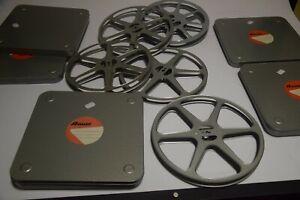 5 x Bauer 16mm Filmdosen mit Spulen 240m