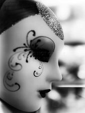 ART PRINT POSTER PHOTO VENETIAN MASK CARNIVAL BLACK WHITE PIERROT LFMP0092