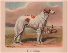 Borzoi, Russian Wolfhound Dog, by Edwin Megargee, vintage print, authentic 1942