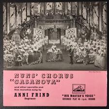 ANNI FRIND - Nuns Chorus 'CASANOVA' - EP HMV 7 EG 8276 1957 - VG+/VG+