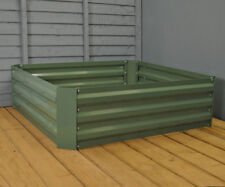 Selections Green Metal Raised Vegetable Flower Bed Planter (100 x 100 x 30cm)