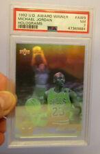 Michael Jordan 1992 Upper Deck Award Winners Hologram Card #AW9 Graded PSA 7 NM