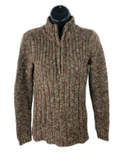 Liz Claiborne Womens Sweater Pullover Knit Long Sleeve 1/2 Zip Size Small
