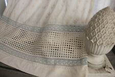 Vintage French eyelet lace dress white blue STUNNING!!!!!