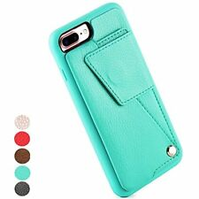 Wallet Cases IPhone Plus Case, ZVE Durable Protective Leather With Cre