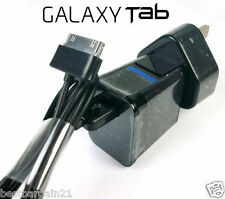 "USB Cable Adaptador Cargador De Pared Para Tablet Samsung Galaxy Tab 2 7"" 8.9"" 10.1 Note"