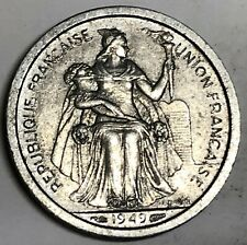 # C3109 French Oceania Coin, One Franc 1949