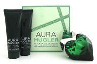 Aura Mugler by Thierry Mugler 1.7 oz.EDP Spray Refillable for Women New Set
