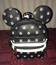 Disney Parks Loungefly Mickey Mouse Faces Micro Backpack Wristlet