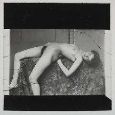 Superb original 1920s female nude, glass positive, artistic!