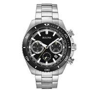Bulova Men's 98B298 Quartz Rotating Bezel Chronograph Black Dial 45mm Watch