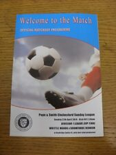 27/04/2014 Chelmsford Sunday League Division 1 Cup Final: Writtle Manor v Bromfo
