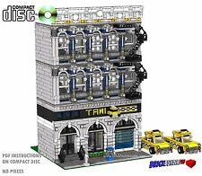 CD Modular Taxi Company, Lego Custom Instructions cafe train city town #39