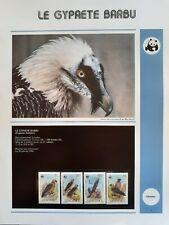 WWF Lot de feuilles 4 FDC + série OISEAU GYPAETE BARBU Lesotho 1986