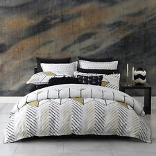 Logan and Mason RIO Gold King Size Bed Doona Duvet Quilt Cover Set