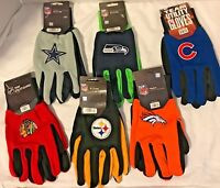 MLB - NFL - NHL Team Color Sport Utility Grip Gloves - Pick Your Team