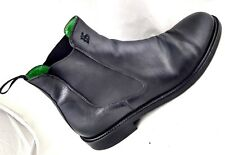 Roberto Botticelli Italy Black Leather  Chelsea Ankle Boots Shoe Men EU 45 US 12