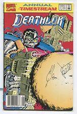 Deathlok Annual #1 (9.2) Signed By Joe Quesada And Jimmy Palmiotti 1992