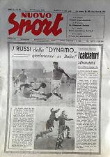 RIVISTA=NUOVO SPORT=N.49 DEL 5-11/12/1945=DYNAMO MOSCA=