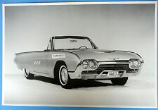 "12 By 18"" Black & White Picture 1963 Thunderbird Convertibe T Bird Top Down"