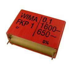 Condensador de película de polipropileno WIMA FKP1 FKP 1 1600V 0, 1uF 10% 37, 5mm 024087