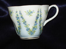 ROYAL ALBERT BLUE TAFFETA CUP ONLY SHELLEY SHAPE SPECIAL COLLECTION #1 FLOWERS