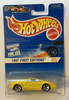 1997 Hotwheels Lamborghini Countach 25th Anniversary Yellow! Mint! MOC!