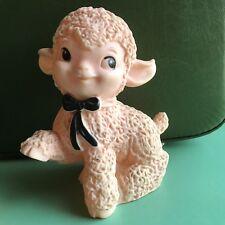 Vintage Ashland Rubber Pink Lamb Squeak Retro Kitsch Toy