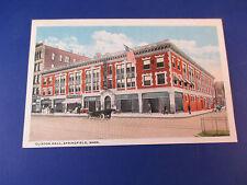 Clinton Hall, Springfield,Mass Vintage Colorful Postcard Unused Pc14