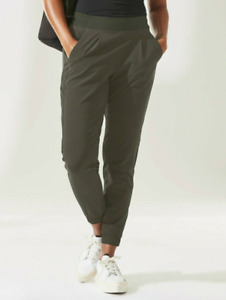 Athleta NEW Textured Brooklyn Jogger ~ Mountain Olive Green Size 6 Small NWT $98