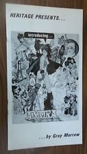 "AMORA Comics by Gray Morrow HERITAGE 1971 Fanzine Large 15"" x-8 ""  Book"