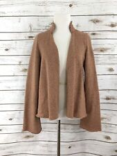 ANTHROPOLOGIE STRIPED WOOL CARDIGAN JACKET OPEN RED IVORY M SPARROW LAMBSWOOL
