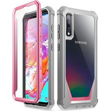 Samsung Galaxy A70 чехол , поэтическое гибридный бампер ударопрочный защитный чехол розовый