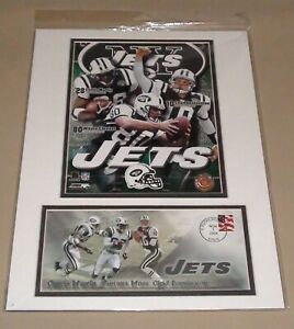 NY JETS OFFICIAL POST OFFICE STAMP 2004 POSTER THE BIG 3 MARTIN, MOSS,PENNINGTON