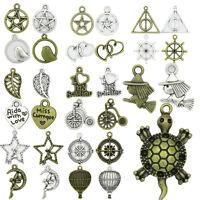 Antique Silver Bronze Beautiful Pendant Charms DIY Bracelet Jewelry Making