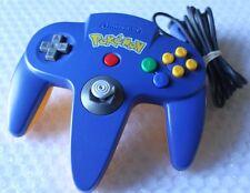 Official Nintendo 64 N64 Pokemon Pikachu Blue Yellow Controller Game Pad Rare