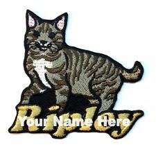 American Bobtail Cat Custom Iron-on Patch With Name Personalized Free
