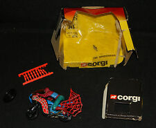 Spider-Man Spiderbike by Corgi Toys #266 (Box: POOR / Bike: NM) 1983