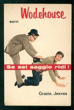 WODEHOUSE PELHAM GRENVILLE GRAZIE, JEEVES BIETTI 1966 IL PICCHIO 10 PRIMA EDIZ.