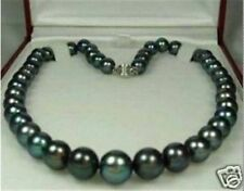 "8-9mm Tahitian Black Natural Pearl Necklace 18"" JN68"