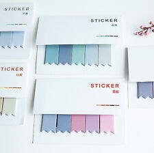 100 Pages Sticker Flags Bookmark Point Marker Notepad Memo Paper Sticky Notes