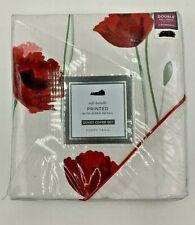 Poppy Trail Double Duvet Printed Cover Set White New