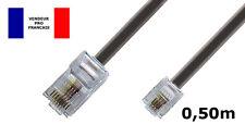 DITM® Cordon Téléphone ou ADSL RJ11 mâle vers RJ 45 mâle - noir - 0,50 m