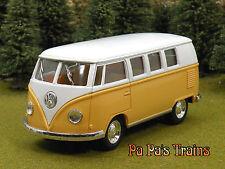 Die Cast Yellowish Orange 1962 VW Bus by Kinsmart Small G Scale 1:32 by Kinsmart