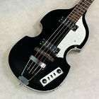Electric Bass Hofner HI-BB Ignition Bass USED Black White Violin Bass 2010 for sale
