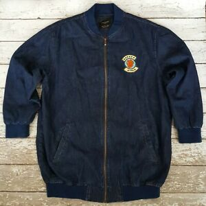 ZARA Trafaluc Denimwear Jacket 'Scout Theme' Patches Size Men S 26