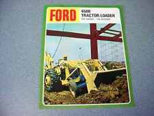 Ford 4500 Tractor Loader Backhoe Color Brochure