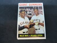 1964 TOPPS GIANT GUNNERS WILLIE MAYS AND ORLANDO CEPEDA CARD# 306  VG