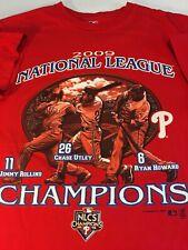 Phillies MLB 2009 NL Champions T-Shirt Men's Medium
