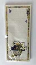 1999 Marjolein Bastin 50 Sheet Notepad & Magnet Set - Butterfly & Blackberries